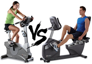 Bike Exercise Benefits recumbent bike vs upright bike